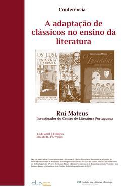 Cartaz - A adptação de clássicos no ensino da literatura