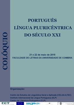Cartaz - Português língua pluricêntrica do século XXI