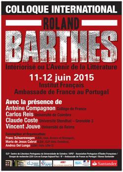 Cartaz - «Roland Barthes: Intériorisé ou L'Avenir de la Littérature»