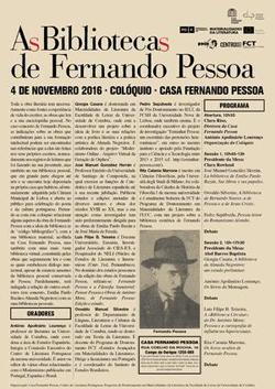 cartaz_Biblioteca de Fernando Pessoa