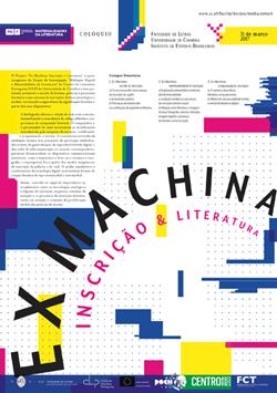 Cartaz_Colóquio Ex Machina: Inscrição e Literatura
