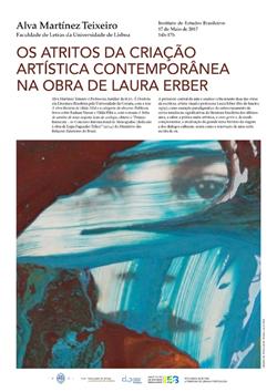 """Cartaz_ Aula aberta """"Os atritos da criação artística contemporânea na obra de Laura Erber"""""""
