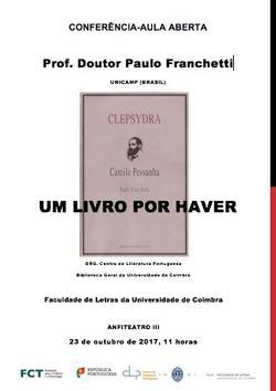 Camilo Pessanha 150 anos - Clepsydra um livro por haver