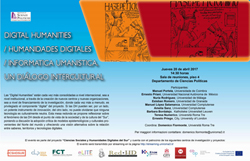 Cartaz_ Digital humanities/ Humanidades Digitales / Informatica Umanistica. Un diálogo intercultural.