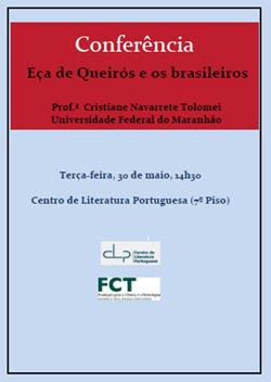 Cartaz_Conferência Eça de Queirós e os brasileiros