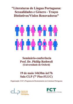 """Cartaz_ Seminário-conferência """"Literaturas de Língua Portuguesa: Sexualidades e Género - Traços Distintivos / Visões Renovadoras"""""""