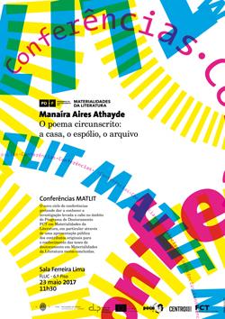 Cartaz_Conferências MatLit - Manaíra Aires Athayde