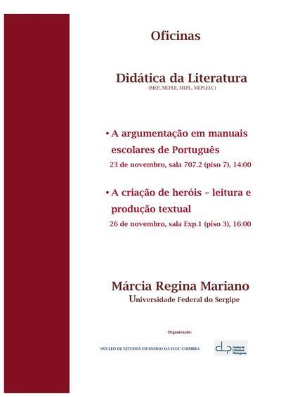 Oficinas de Didática da Literatura