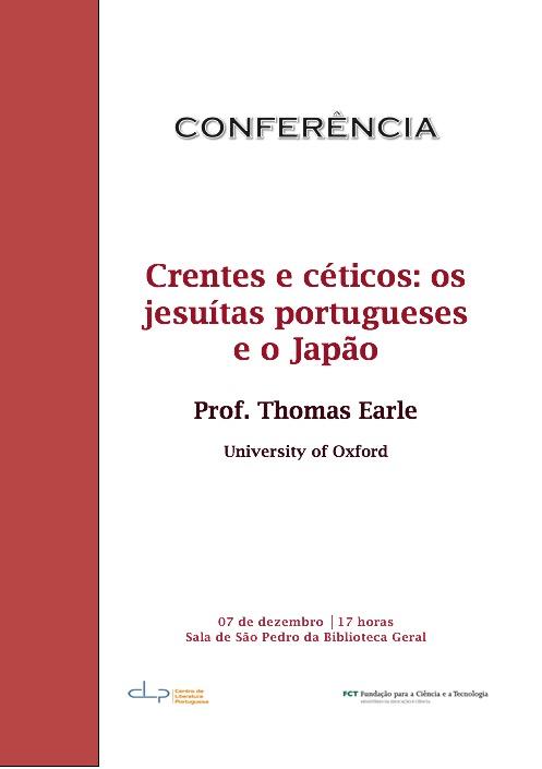 Conferência por Thomas Earle