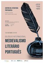 Colóquio Internacional Medievalismo Literário Português_cartaz