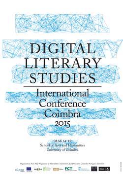 Cartaz - Estudos Literários Digitais 2015