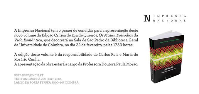 Edição Crítica Os Maias_Convite
