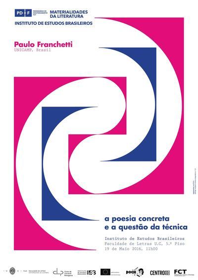 """Conferência """"A Poesia Concreta e a questão da técnica"""""""
