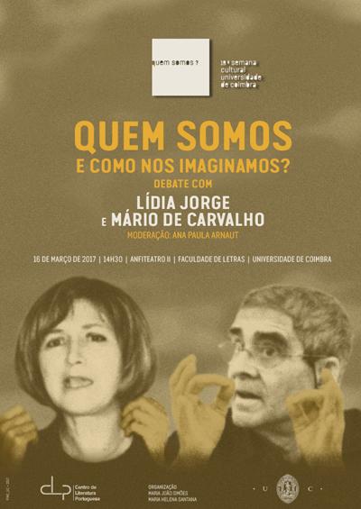 Debate Lídia Jorge e Mário de Carvalho