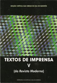 Capa - Textos da Imprensa V (Da Gazeta Moderna)