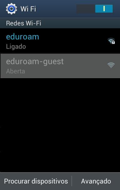 Ligação a eduroam em Ambiente Android #1