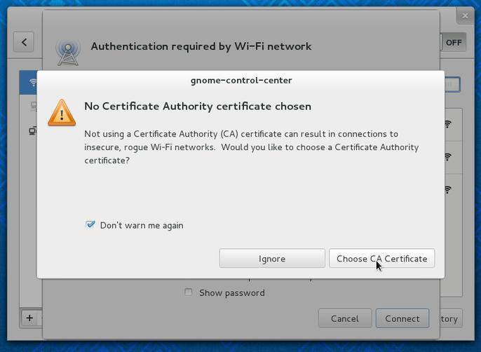 Configuração de Clientes Linux GUI - Erro de Certificado - Campus Virtual UC