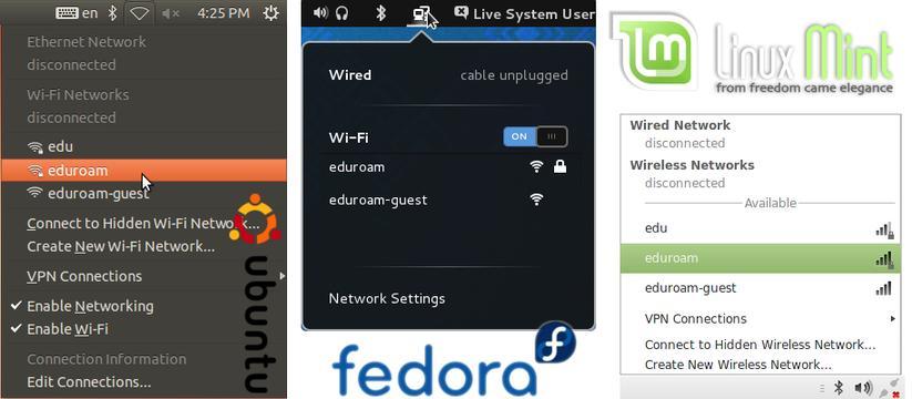 Seleção de rede sem fios em Ambiente Linux