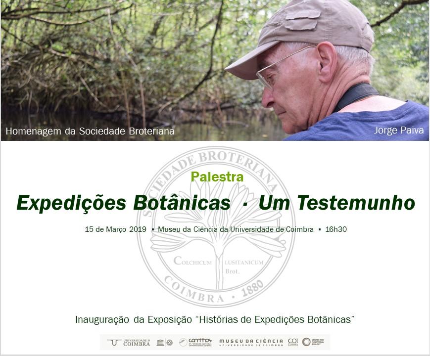 Histórias de Expedições Botânicas - Palestra Jorge Paiva