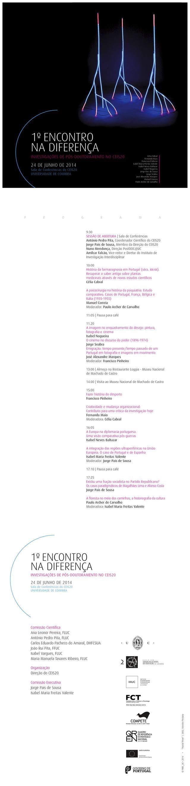 1º Encontro na Diferença: Investigações de Pós-Doutoramento no CEIS20