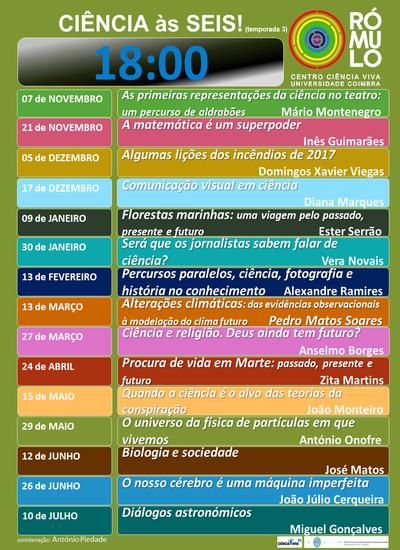 Ciência às Seis! (3) 2018-2019