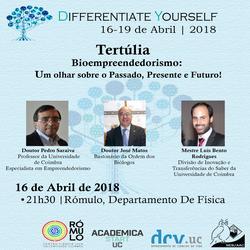 Tertúlia bioempreendedorismo