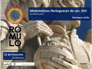 Ciência às Seis! Matemáticos Portugueses do século XVI: um retrato de grupo_thumb