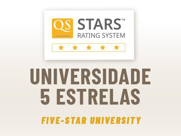 5 estrelas - rating QS