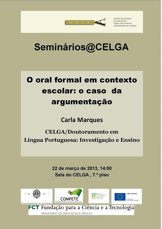 Seminário de Carla Marques