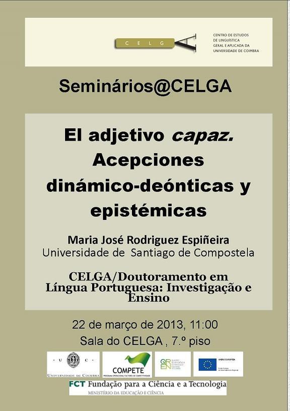 Seminário de Maria José Rodriguez Espiñeira