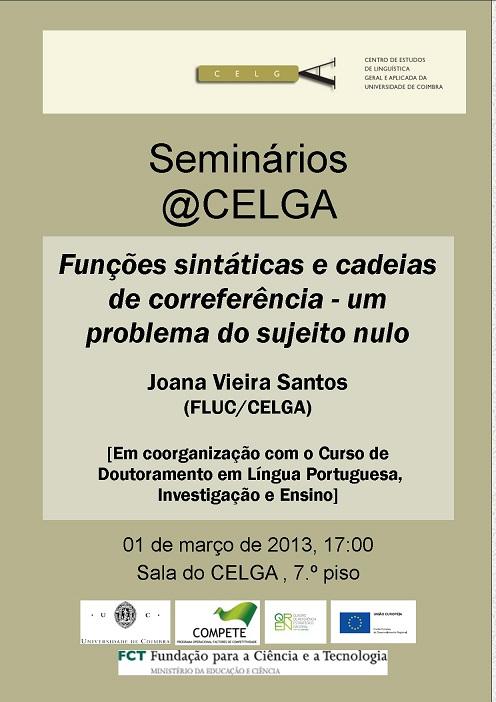 Seminário de Joana Santos